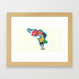 ponyo and sosuke  Framed Art Print
