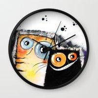 friendship Wall Clocks featuring friendship by Katja Main