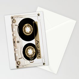 Transparant mix tape Retro Cassette Stationery Cards