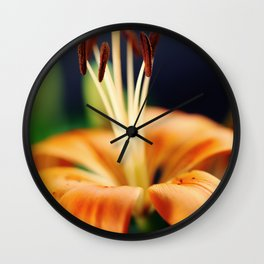 Flower Lily Wall Clock