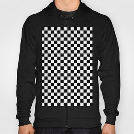 White and Black Checkerboard Hoody
