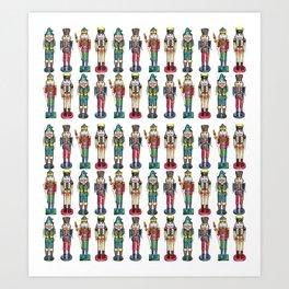 The Nutcracker Prince Pattern Art Print