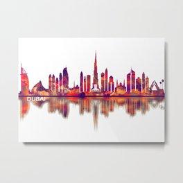 Dubai UAE Skyline Metal Print