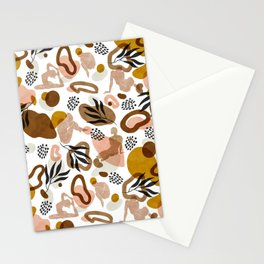 Women shapes nature abstract Stationery Cards