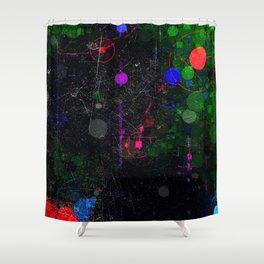 Digital Artist Textured Paint Splash Abstract Shower Curtain