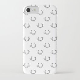 Simple Wreath Pattern iPhone Case