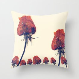 Rose of History Throw Pillow