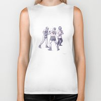 freud Biker Tanks featuring Freud, Jung, and Watts, walk into a bar... by Salgood Sam
