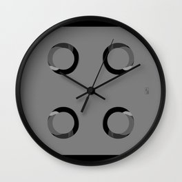 Shower Spray Nozzles (User's Perspective) Wall Clock