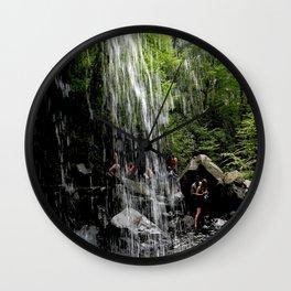LH Waterfall People Wall Clock