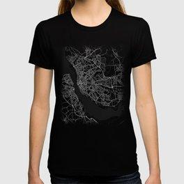 Minimal Liverpool UK United Kingdom City Map Tee T-shirt