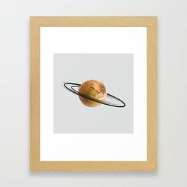 onion saturn Framed Art Print