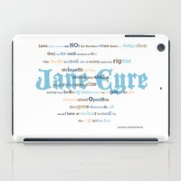 jane eyre iPad Cases featuring Jane Eyre Quote by Lisa Naselli