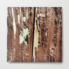 Brown Paint Peel Texture Metal Print