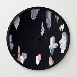 Navy and Pink Abstract Painting Wall Clock
