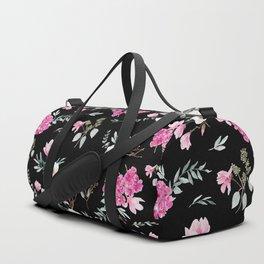 Magnolias, anemones, geranium and eucalyptus Duffle Bag