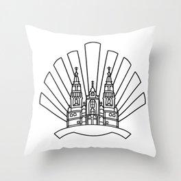 Santiago de Compostela Throw Pillow