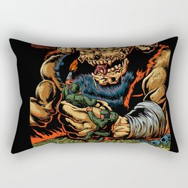 judgment of the devil Rectangular Pillow