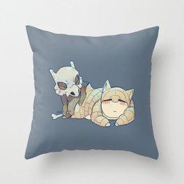 PRESS START-  Cubone and Sandshrew Throw Pillow