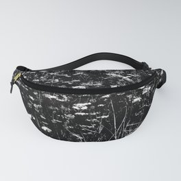 High-Contrast Black and White Queen Anne's Lace Hillside Fanny Pack