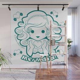 Kawaii Kiddies Cute Mermaid Wall Mural