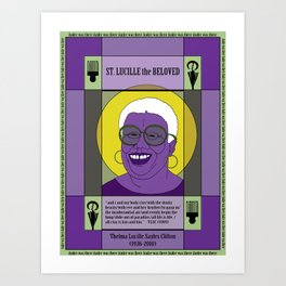 St. Lucille the Beloved Art Print