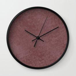 Pantone Red Pear, Liquid Hues, Abstract Fluid Art Design Wall Clock