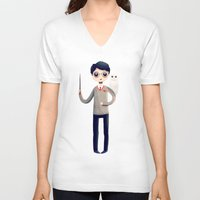 harry V-neck T-shirts featuring Little Harry by Nan Lawson