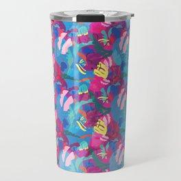 Papercut Floral in Magenta Travel Mug