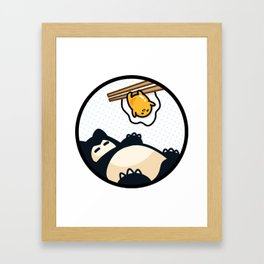 Snorlax Gudetama Lazy Duo (San-x) Framed Art Print