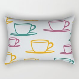 Teacups Rectangular Pillow