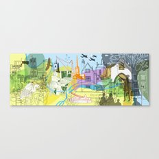 Norwich- City of Stories Canvas Print