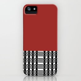 Red Brick And Lace iPhone Case