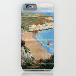 Vintage Placard The Gower Coast iPhone Case