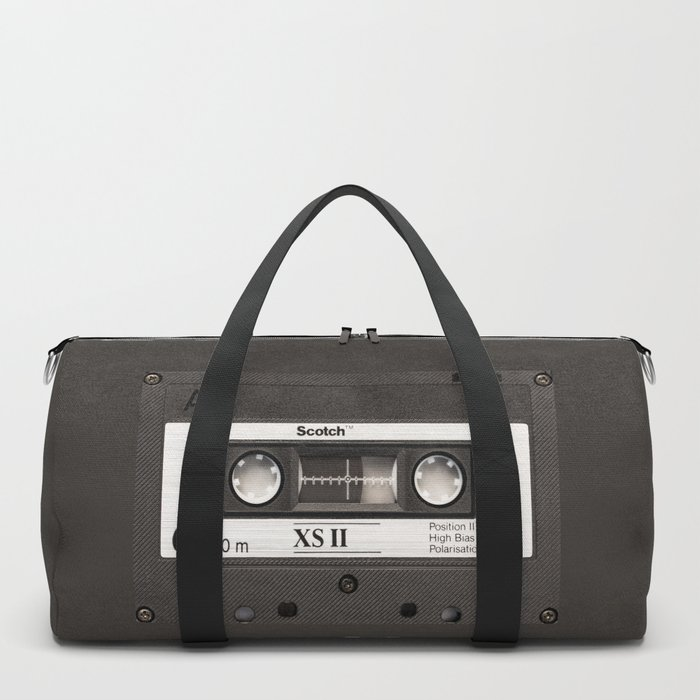 Cassette Tape Black And White #decor #homedecor #society6 Duffle Bag