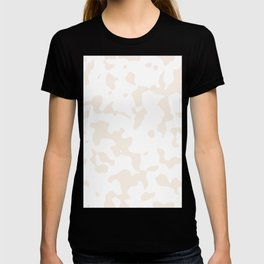 Large Spots - White and Linen T-shirt