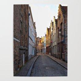 Belgium, Cobblestone Street 4 Poster