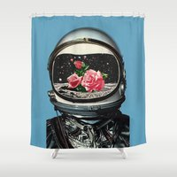 spring Shower Curtains featuring Spring Crop at the Rosseland Crater by Eugenia Loli