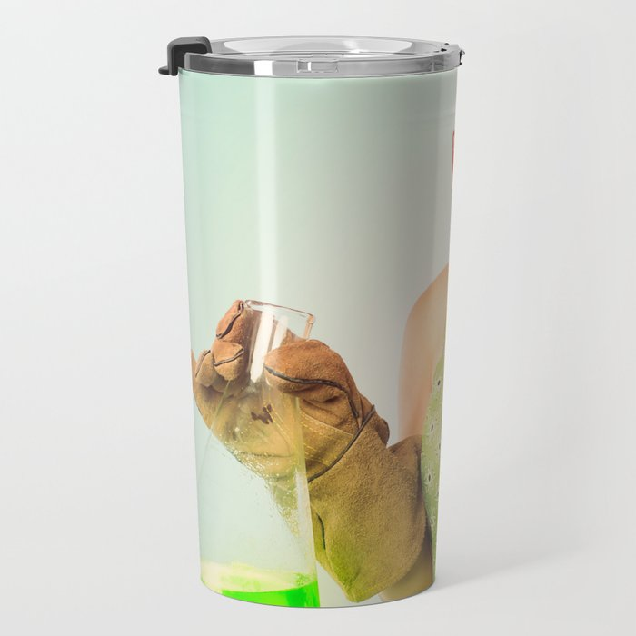 Distractingly Sexy Scientist Pinup Travel Mug