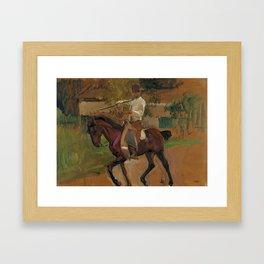 Garrochista by Joaquin Sorolla, 1914 Framed Art Print