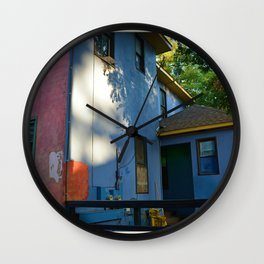 Color Blocked Architecture Wall Clock