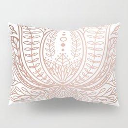 Botanical Lotus - Rose Gold Pillow Sham