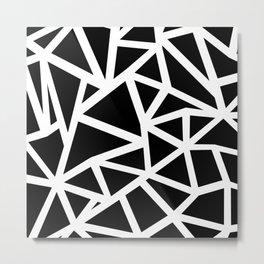 Ab Outline Thicker Black Metal Print