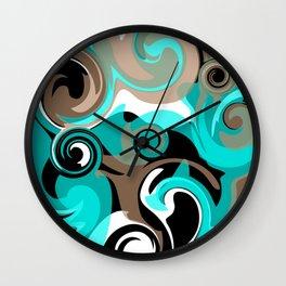 Tidal Wave 2 Wall Clock