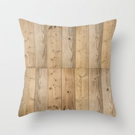 Wood Planks Light Throw Pillow