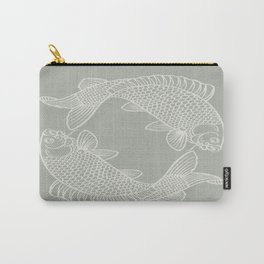 Gray Grey Koi Fishes Carry-All Pouch