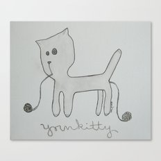 yarnkitty Canvas Print