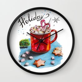 Holiday Coffee Wall Clock