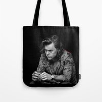 harry Tote Bags featuring harry  by otp-hedgefrog