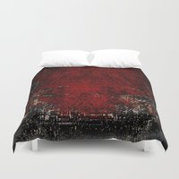 glitch Duvet Covers featuring Glitch by Z. Crawshayi